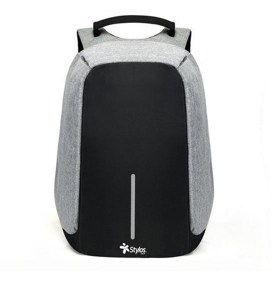Mochilas Escolares Bolsa Antirrobo Impermeable Laptop Usb /e