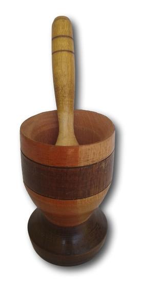 Pilão De Madeira Amassador De Temperos Ref: 9330