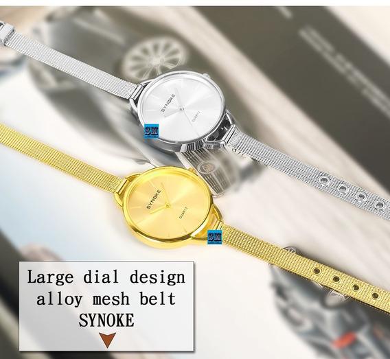 Relógio Feminino Marca Consagrada Synoke Modelo Luxo - Novos