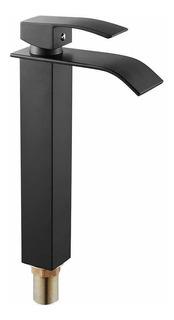 Llave Mezcladora Monomando Lavabo Ovalin Baño Negro R0-250