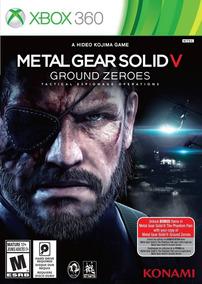 Metal Gear Solid V Ground Zeroes Xbox 360 Mídia Física