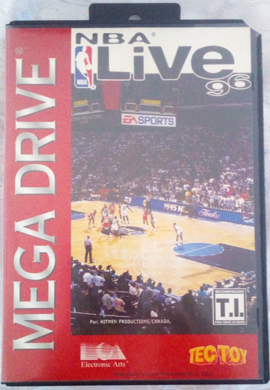 Cartucho Mega Drive - Nba Live 96 Original Tec Toy Completo