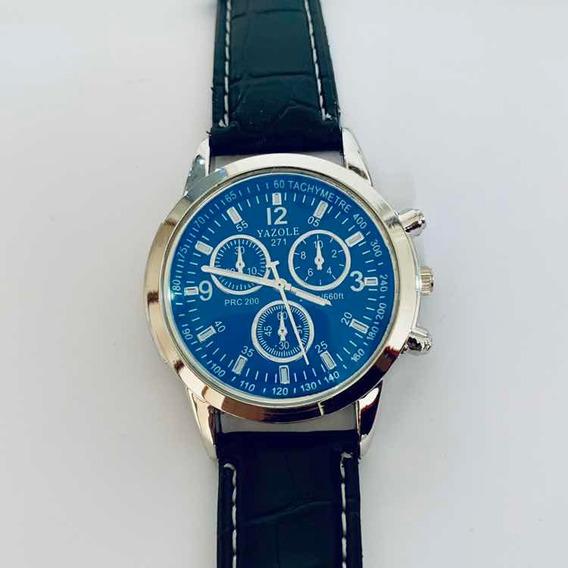 Relógio Yazole 271 - Pulseira De Couro (luxo)