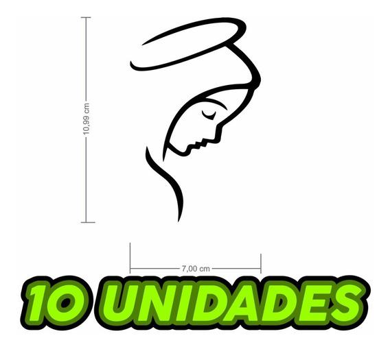 Kit 10x Adesivos Nossa Senhora Religioso Em Vinil Carro Moto