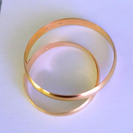 Alianças Ouro 18k-750-2.4 Gr.-