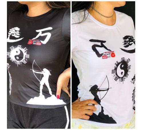 Imagem 1 de 9 de Kit 2 Camisa Preta+branca Baby Look Yorozuya+ Frete Grátis