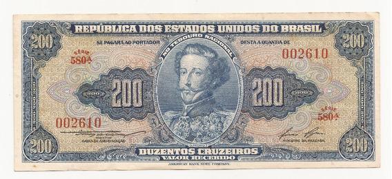Cédula Brasil 200 Cruzeiros C039