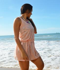 Saída De Praia Vestido Curtinho Verão - Tamanho Único
