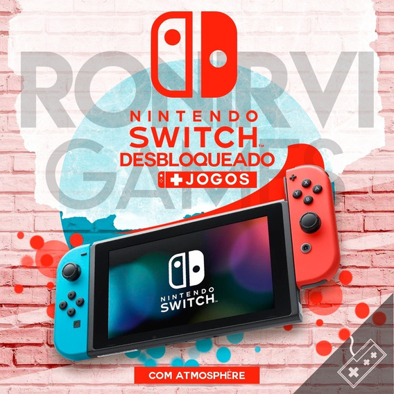 Nintendo Switch Desbloqueado + Dongle 128gb