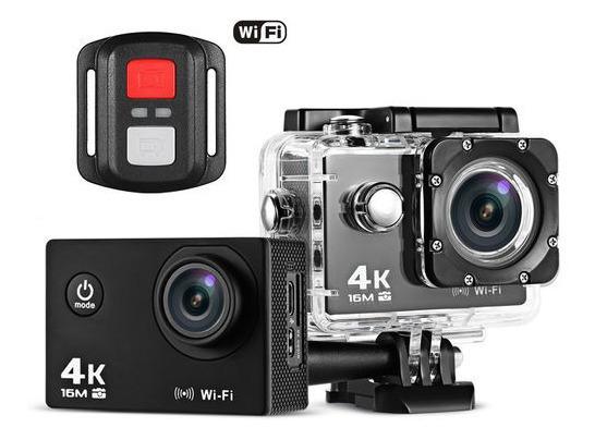 Câmera Subaquatica Esporte 4k Full Hd Com Controle + Cartão De Memória 32gb