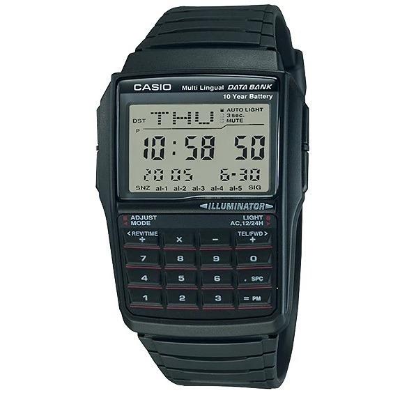 Relógio Masculino Casio Borracha Com Calculadora Dbc-32-1adf