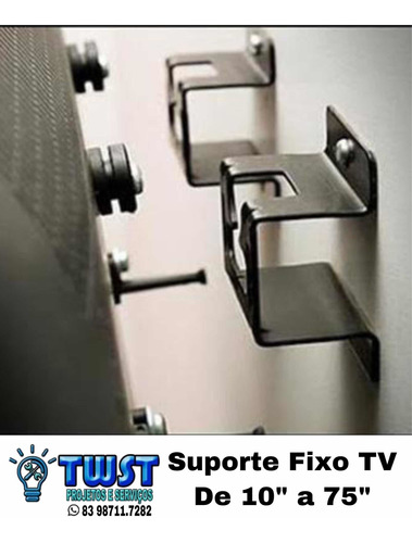 Imagem 1 de 1 de Serviço De Instalação De Tv Na Parede Com Suporte Fixo