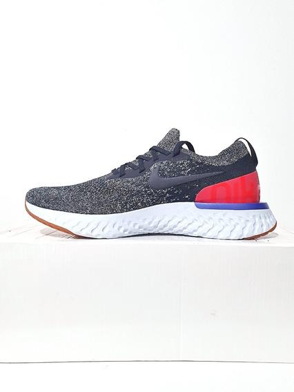 Tênis Nike Epic React Flyknit Masculino Corrida Cinza N. 39 (7.5 Usa)