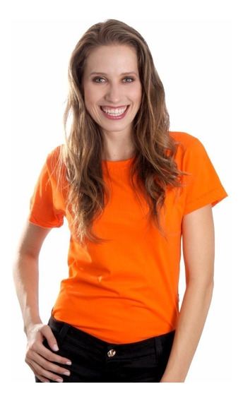 Kit 4 Camisetas Baby Look Feminina Algodão Lisa Blusinha