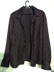 Casaco Blazer Camisa Feminino Uva Cia De Moda 48 Lindo