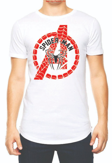 Playera Camiseta Avengers Engame Logo Marvel Spider Man