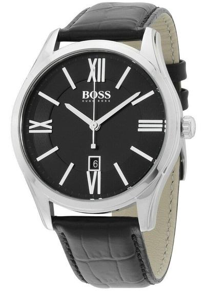 Relógio Masculino Hugo Boss 1513022 Pulseira De Couro