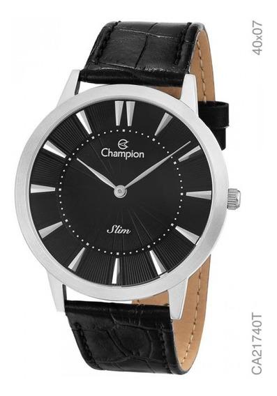Relógio Champion Masculino Slim Pulseira De Couro Ca21740t