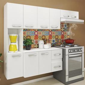 Cozinha Compacta 9 Portas 2 Gavetas Suspensa Armário E Balc