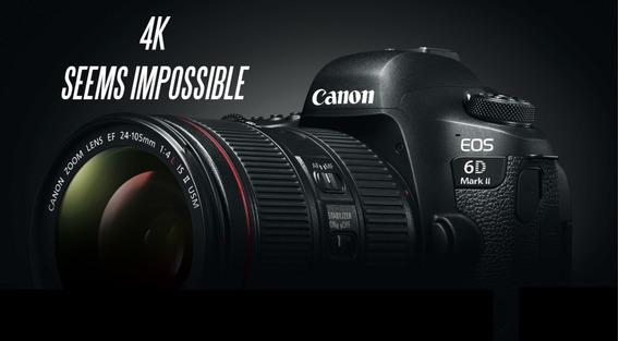 Canon 6d Mark2 Nova C/garantia De Fábrica