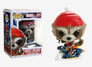 Funko Pop Rocket Holiday 531 Marvel Nuevo Original Coleccion