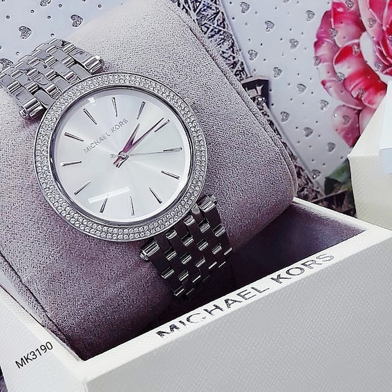 Relógio Michael Kors Mk3190 Prata Cravejado Feminino - Darci