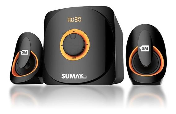Caixa Som Multimídia 2.1 Bluetooth Home Theater Tv/pc 42wmrs