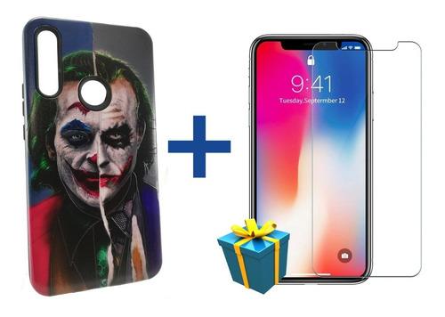Protector Tpu Funda Rígido Huawei Y6 2019 + Vidrio Templado