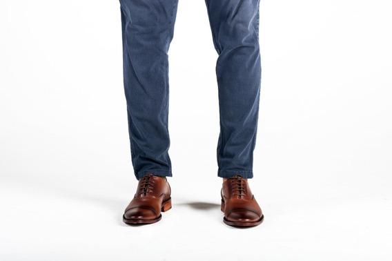 Zapato De Vestir Hombre En Marron Con Efecto De Esfumado