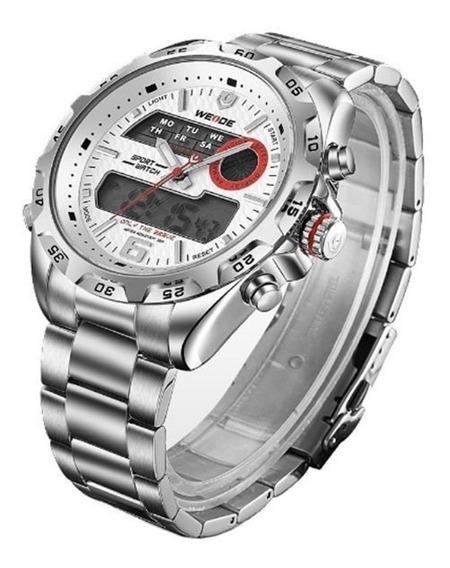 Relógio Masculino Weide Wh-3403 Casual Digital E Analógico