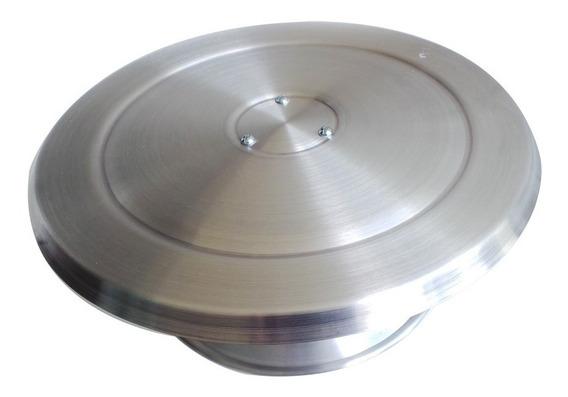 Suporte Base Giratória P/ Decorar Bolo Confeitaria Alumínio