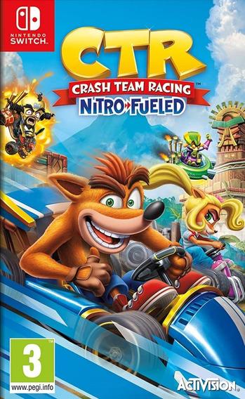 Mídia Física Crash Team Racing Nitro-fueled Switch - Lacrado Frete Grátis Todo Brasil
