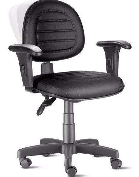 Cadeira Ergonômica Nr17 Back System Com Braços Preta Gomada