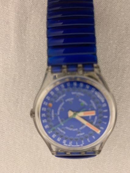 Relogio Swatch,duplo Calendario.perpetual,dia E Semana,na Cx