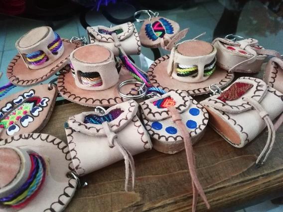 10 Llaveros De Piel De Chiapas, Recuerdos.