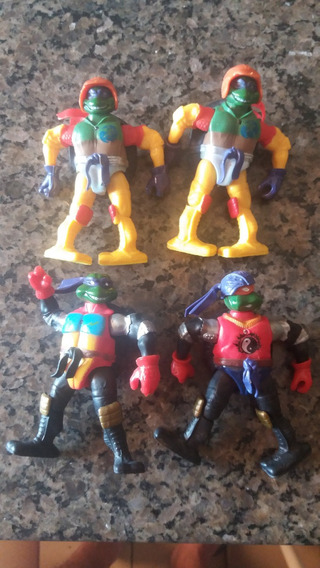 Kit Com 4 Bonecos Tartaruga Ninja C/luzes - Lote 4