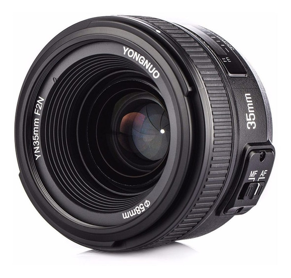 Lente Yongnuo 35mm F/2 Lançamento Auto Foco Para Nikon