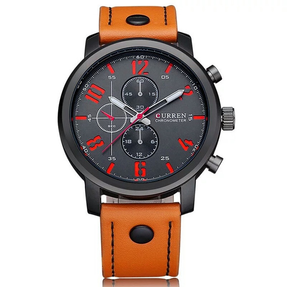 Curren Relógios Músculino E Luxo Casual. Frete Grátis