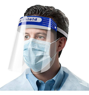 Protetor Facial Medical Shield Máscara Espaço P/ Óculos