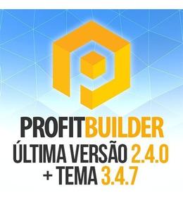 Wp Profit Builder 2.4.0 + Tema 3.4.7 - Domínios Ilimitados