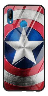 0mdunmd - P20 Lite - Luxo Marvel Vidro Temperado Para Huawei