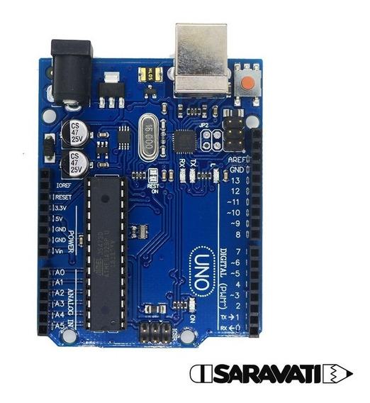 Placa Arduino Uno R3 Compatível E Cabo Usb 2.0 A-b