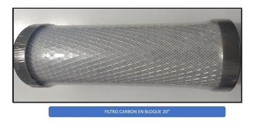 Filtro Slim De 20  Para Agua Pila Carbón En Bloque Ozono