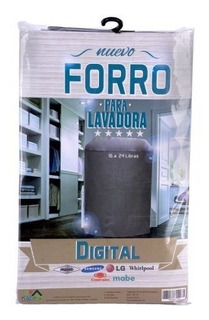 Forro Lavadora Digital 16-24lb Samsung Mabe Lg Whirlpool Ea