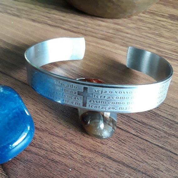 Bracelete De Aço Largo 2cm.