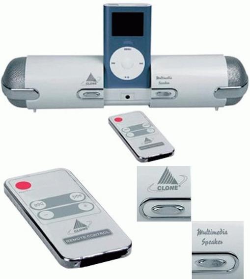 Caixa Som Multimidia Clone 11142 Portatil iPod Mp4 Ler Anunc