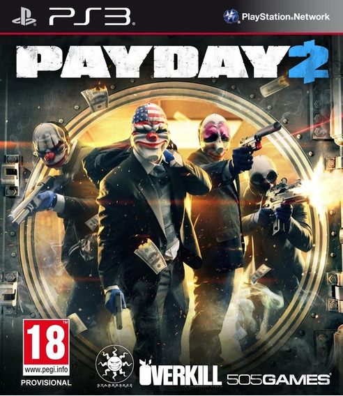 Payday 2 Ps3 Psn Midia Digital Imperdivel Envio Rápido