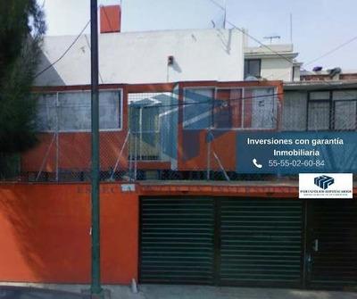 Casa Recuperada Con Garantía Empresarial, Coyoacan