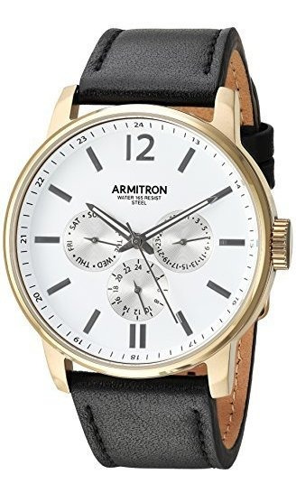 Armitron - Reloj Multifunción Para Hombre, Correa De Piel Ne