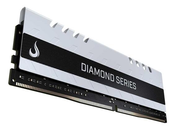 Memória Gamer Ddr4 8gb 2400mhz Rise Mode Diamond Cl17 Branco